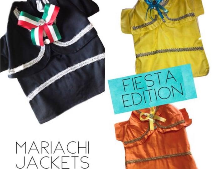 Chaquetas de Mariachi para perrito! Ideal para festejar el Cinco de Mayo o Fiesta San Antonio!