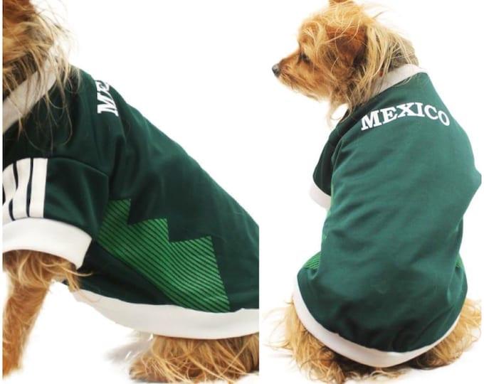 Camisetas para perro de Futbol Mexicano/ Camisetas para perro del mundial/ Camiseta del equipo Mexicano para perro/ Jersey de Mexico