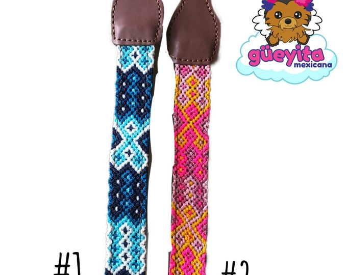 Mexican dog collars/ Artisanal dog collars/ Colorful handmade dog collars from Mexico