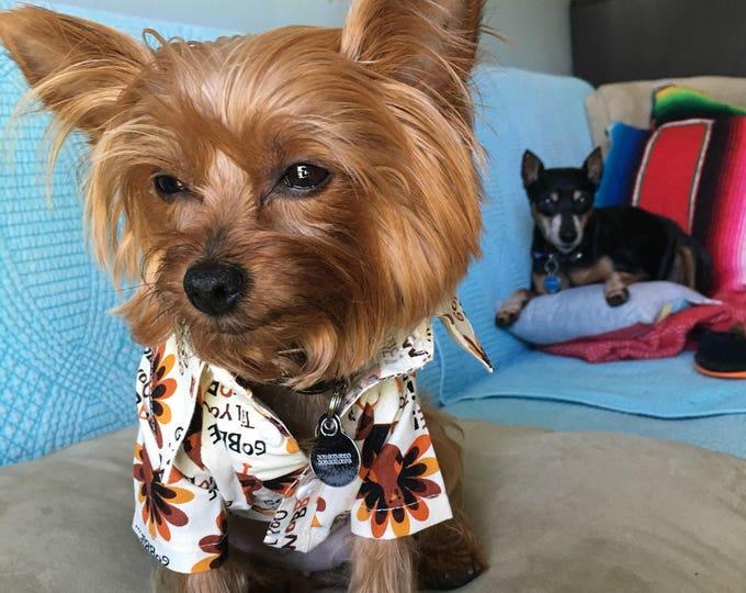 Camisitas para perro- Dia de Acción de Gracias/ Camisitas de pavos para perrito / Camisitas otoñales/ Camisas para perritos