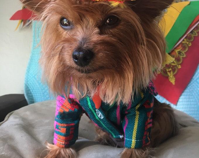 Sets para perrito estilo Mexicano/ Camisitas Mexicanas para perro/ Disfraz Mexicano/ Ropa Mexicana perritos/ cinco de mayo dog sets