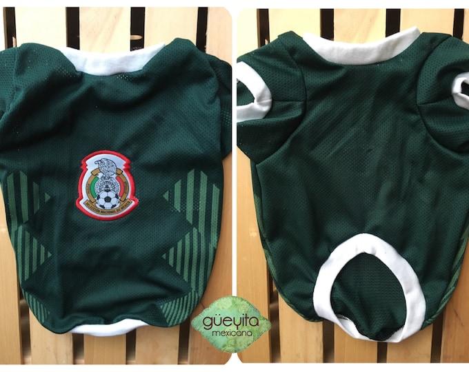 Camisetas para perro de Futbol Mexicano/ Camisetas para perro para Copa America/ Mexican dog Jerseys/ Seleccion Mexicana Dog Jersey