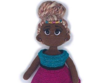Crochet Doll Pattern - 18 inch crochet doll pattern - Amigurumi doll pattern - Leilani doll pattern - PDF Crochet doll pattern