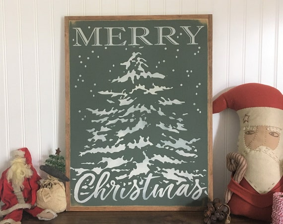"""LIMITED EDITION Merry Christmas wooden sign 