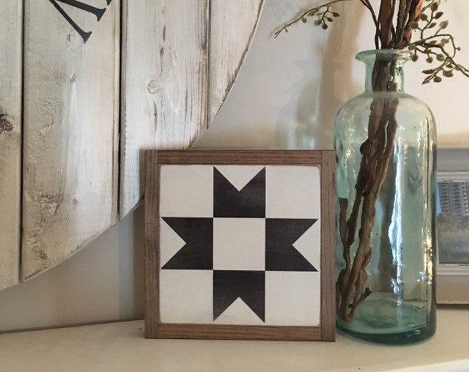 "READY TO SHIP! Quilt block 7""x7"" sign 