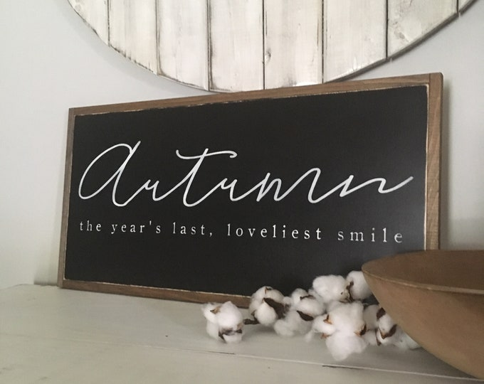 READY TO SHIP! Autumn sign 1x2 | distressed fall seasonal framed sign (sign pictured is sign for sale)