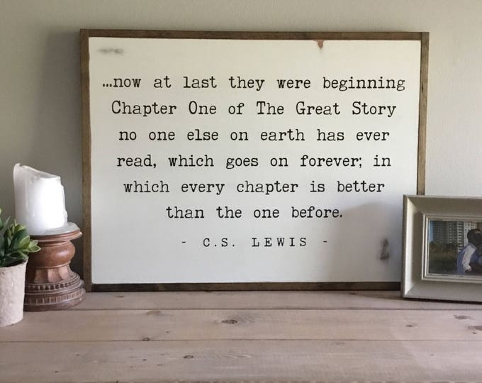 "THE GREAT STORY sign 18""x24"" 