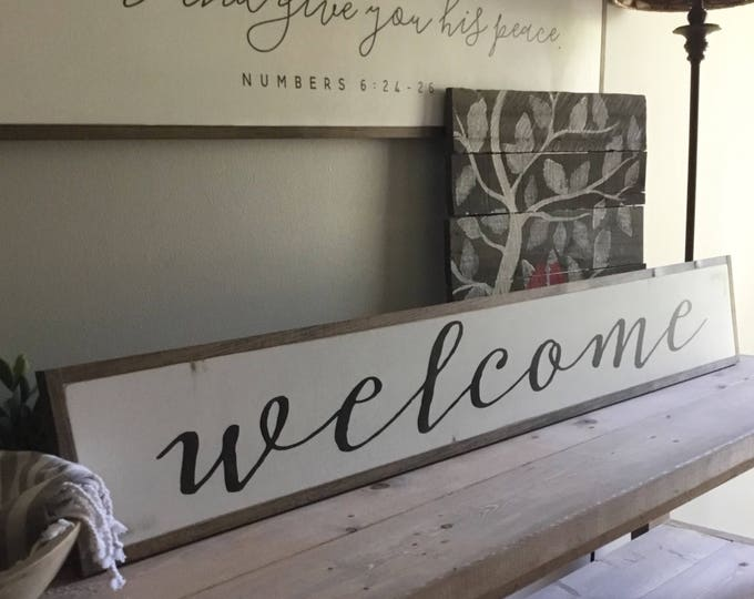 """WELCOME entry 7""""X48"""" sign 