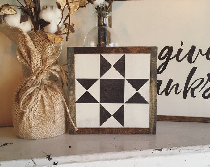 "Quilt block 7""x7"" sign 