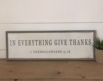 Above the Fireplace Sign Large framed wood sign Give Thanks with a grateful Heart Sign Mantel Sign Dining room wall decor 25x25