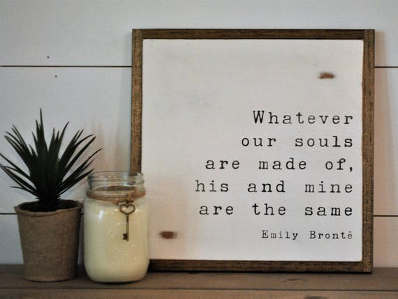 SAME SOULS 1'X1' sign | distressed rustic farmhouse love quote | shabby chic wall decor