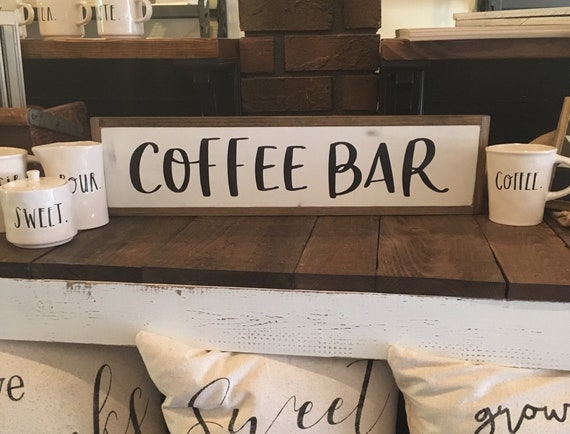 "COFFEE BAR sign 6""x24"" 