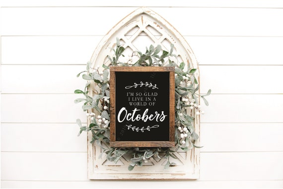 OCTOBERS - digital download | printable | instant download | black background | white lettering | PDF file