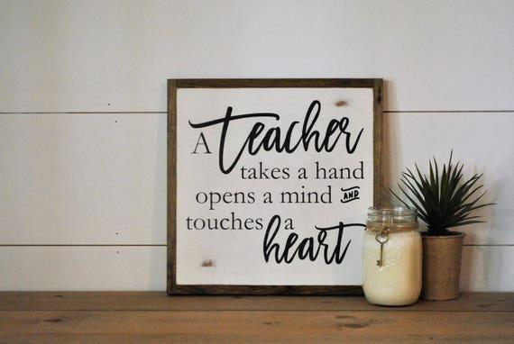 TEACHER 1'X1' sign
