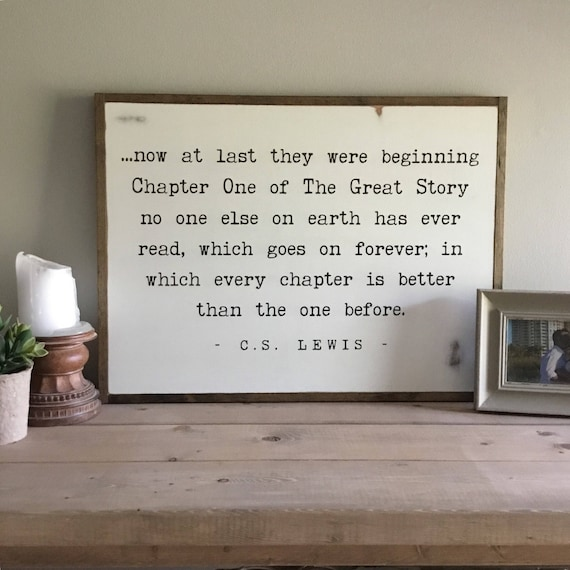 """THE GREAT STORY sign 18""""x24"""" 
