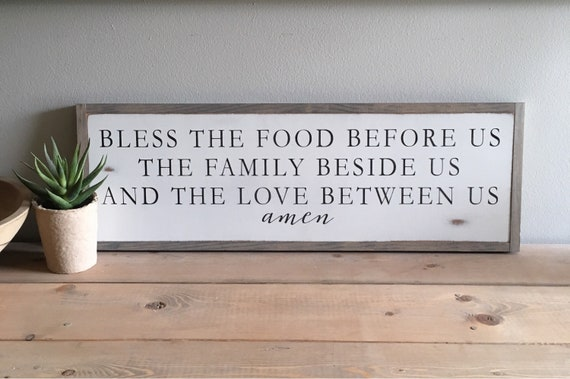 "BLESSING PRAYER 8""x24"" sign 