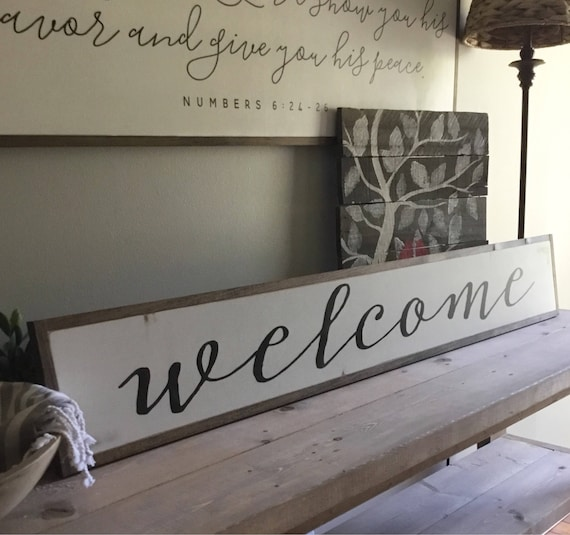 "WELCOME entry 7""X48"" sign 