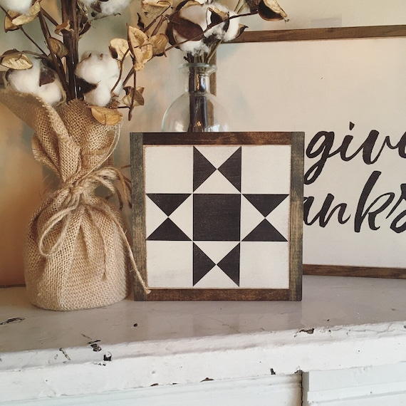 """Quilt block 7""""x7"""" sign 