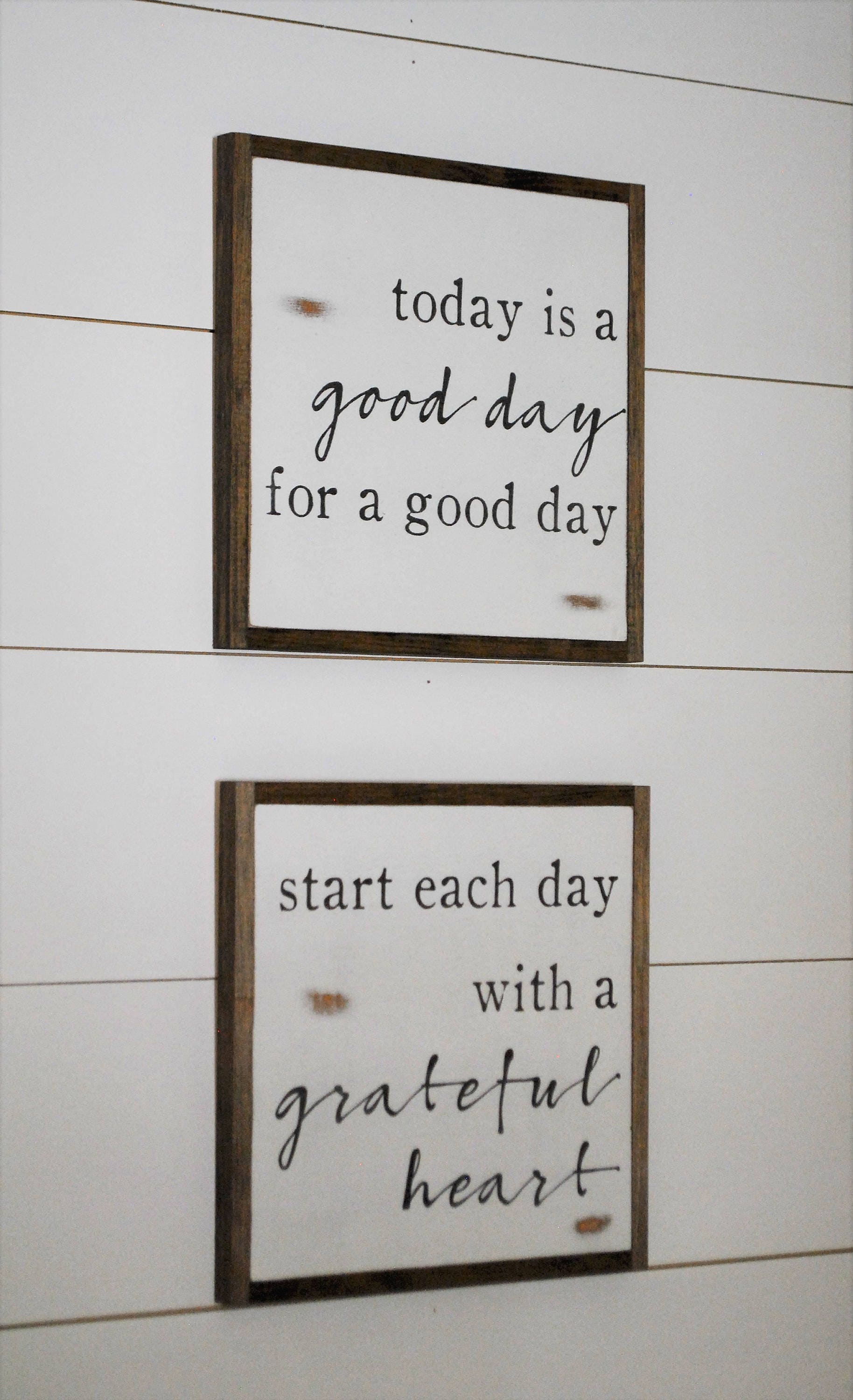 Online Special Good Day Grateful Heart Bundle Set Of 2 Signs