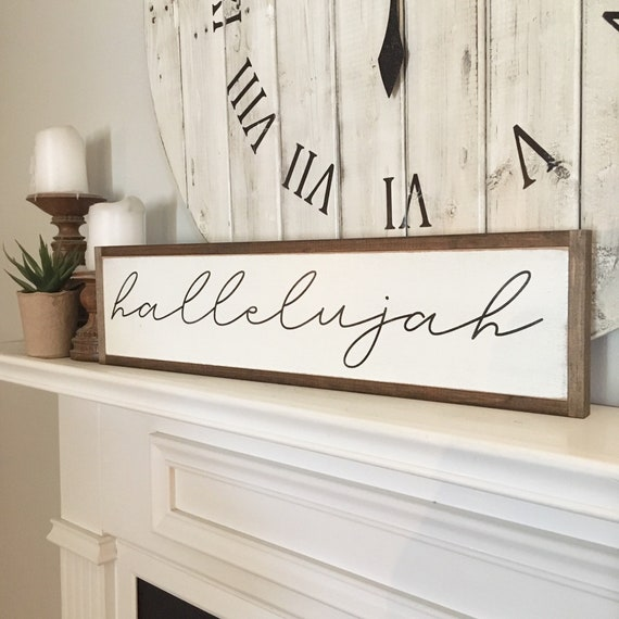 "HALLELUJAH sign 6""x24"" 