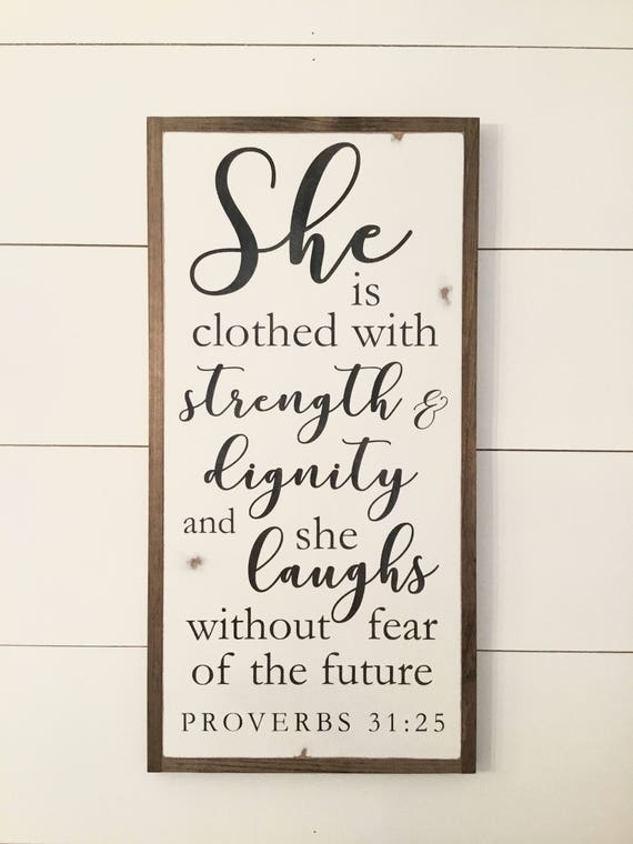 SHE IS 1'X2' sign | distressed rustic wall decor | painted shabby chic wall plaque | farmhouse inspired framed wooden art