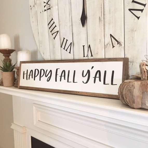 """Ready to Ship!! HAPPY FALL Y'ALL 6""""X24"""" 