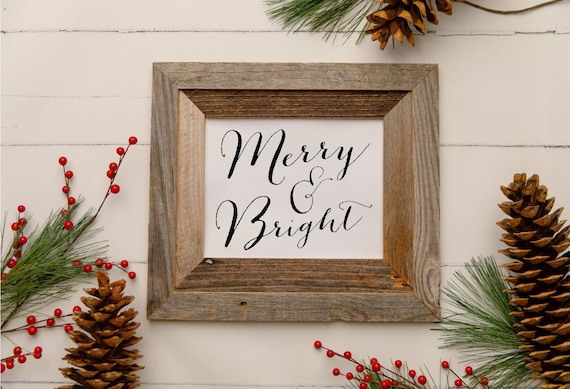 DIGITAL DOWNLOAD! Merry and Bright - The Peddler's Shed | digital download design  | printable | instant download