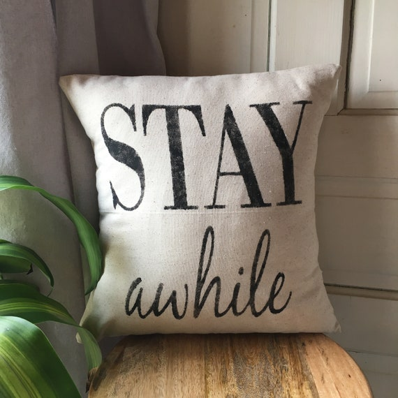 "READY TO SHIP! Farmhouse Throw Pillow | handpainted decorative pillow | 16""x16"""