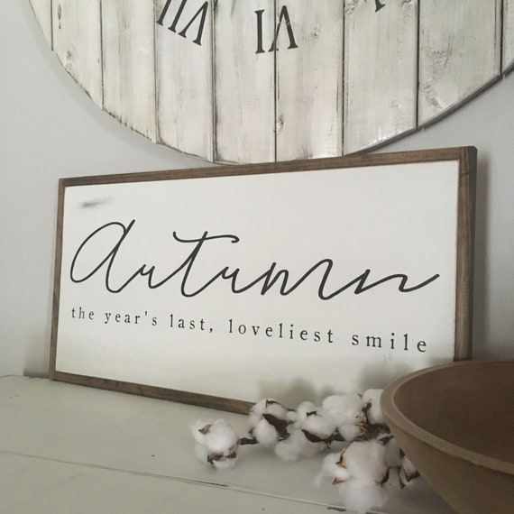 READY TO SHIP! Slight Imperfection - Autumn sign 1x2