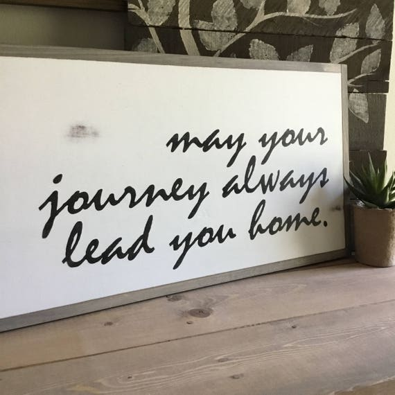 LEAD YOU HOME 1'X2' | farmhouse style painted wooden sign | framed distressed | shabby chic | wall art | wall decor