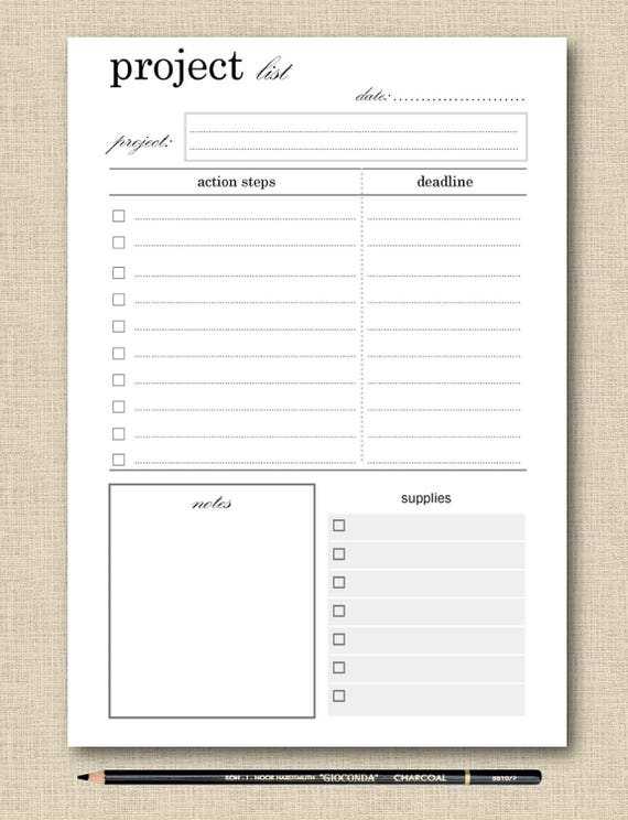 photo about Printable Project known as Lifes Lists Printable Job Planner - Planner Site - Undertaking Checklist - Black White Printable Template - Prompt Down load