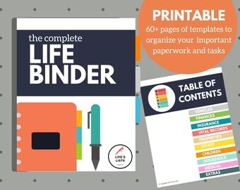 Life Binder - Household Binder - Life's Lists