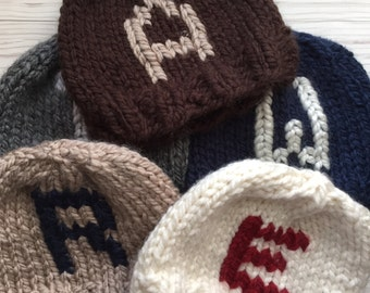4e7bc61fc69 Items similar to Gray Monogram knit hat
