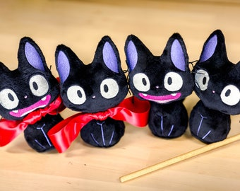 Jiji Plush Kitty Cat Kiki's Delivery Service Cute Adorable Tiny Studio Ghibli Soft Toy Doll Fanart