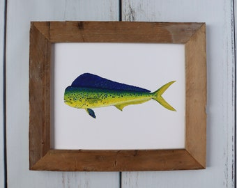 Mahi-Mahi, Dauphin, Dorado, Fish Art Painting, Saltwater Fishing, Off Shore Fishing, art print
