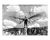 Otto Lilienthal - ORIGINAL Hand Pulled Print - Black White Etching of the German Pioneer of Aviation
