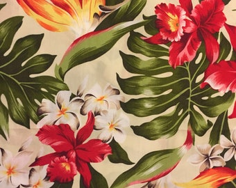 Dog bandana, Hawaiian tropical flowers