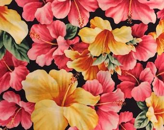 Dog bandana, Hawaiian tropical flowers
