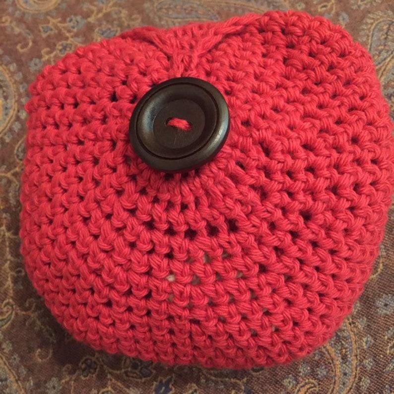 Patriotic Pocket Market bag  Shopping bag handmade crochet red white blue 100/% Cotton