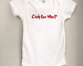96d61fc9a Cindy Lou Who Onesie // Christmas Onesie // The Grinch Onesie