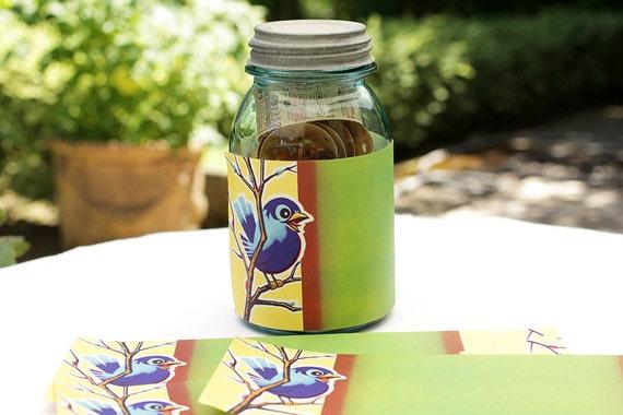 5 x vintage canning jar labels crafts custom wine labels paper etsy
