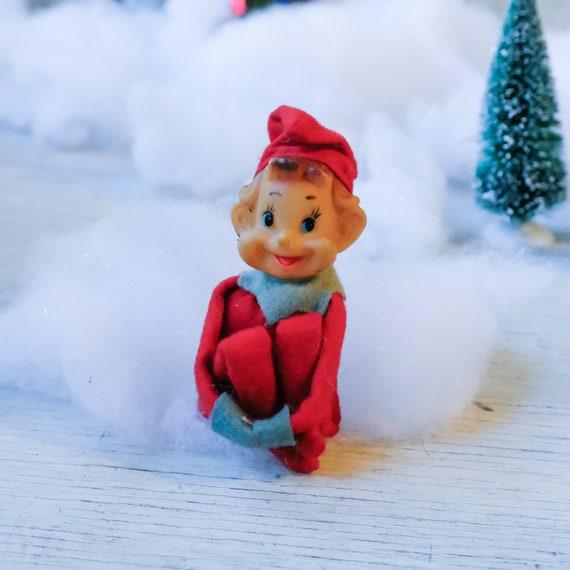 Christmas Elf On The Shelf Images.Red Knee Hugger Elf Vintage 1960s Pixie Elf For Your Shelf Made In Japan Christmas Elf Ornament Felt Elf Rubber Face Elf Mcm Decor