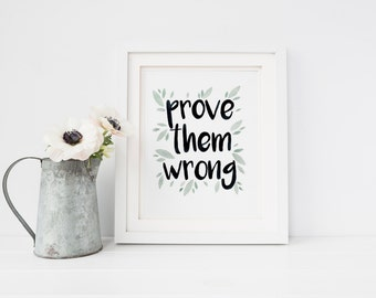 """Watercolor Calligraphy, Watercolor Lettering, Handlettering Watercolor, Motivational Quote, Inspirational Quote, 8x10"""""""
