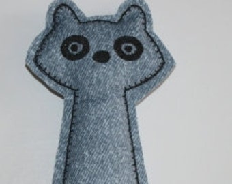 Digital Download Tall Raccoon Softie In The Hoop Embroidery Machine Design for the 5x7 hoop