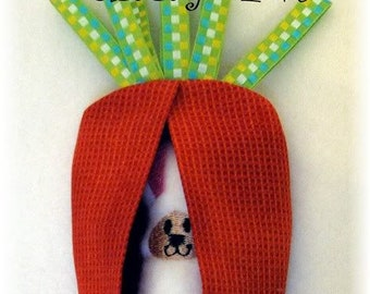 Digital Download Bunny Pal in the Carrot Patch Softie In The Hoop Embroidery Machine Design for the 5x7 hoop
