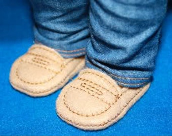 7bde749f8d7 Digital Download 18 inch Doll Penny Loafers Embroidery Machine Design for  the 5x7 hoop