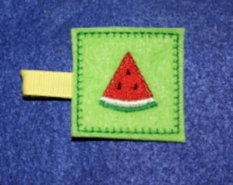 Watermelon Patch Feltie Embroidery Machine Design for the 4x4 hoop