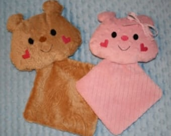 Digital Download  Super Sized Minky Teddy Lovie Softies In The Hoop Embroidery Machine Design for the 7x12 and 8x10 hoop