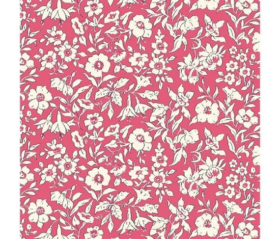 Liberty of London Cottage Garden Fat Quarter 100/% cotton Green Pink Mustard