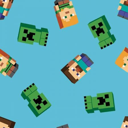 Minecraft Freunde lizenziert Stoff Fat Quarters 100 %   Etsy